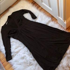 Susana Monaco Brown long sleeve dress